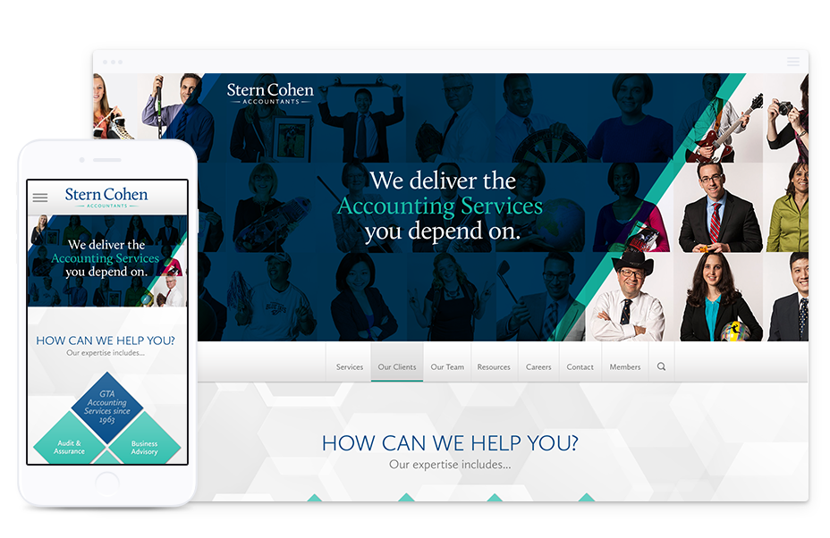 Website Design for Accounting Firm, Stern Cohen LLP