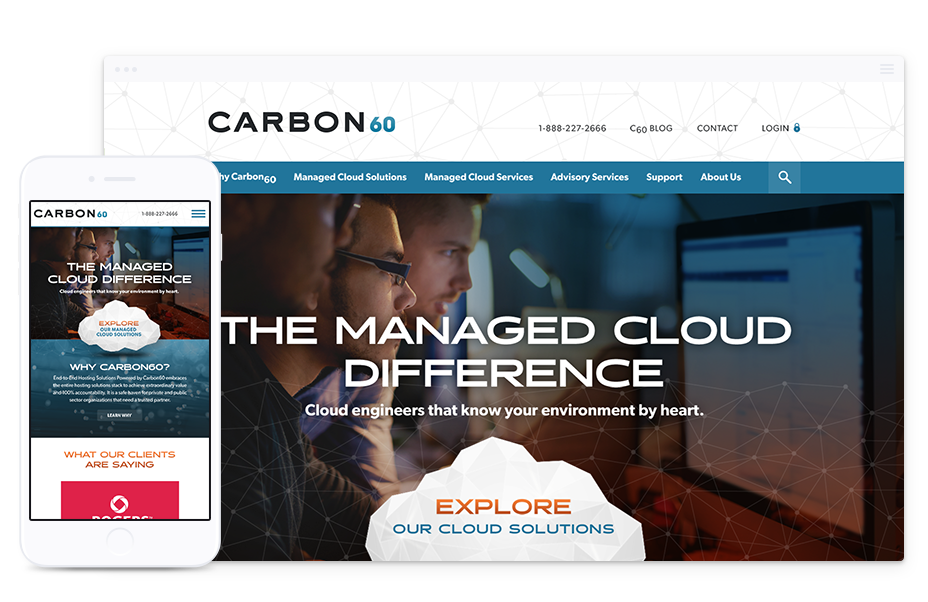 B2B Website Design for Carbon60