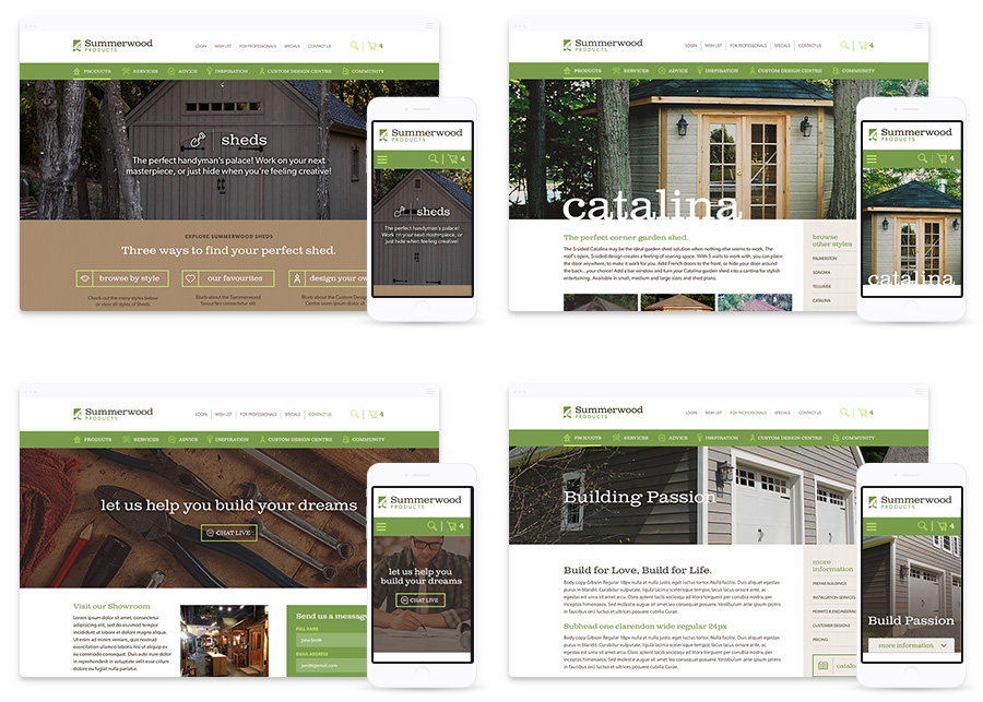 B2C Web Design for Summerwood Products