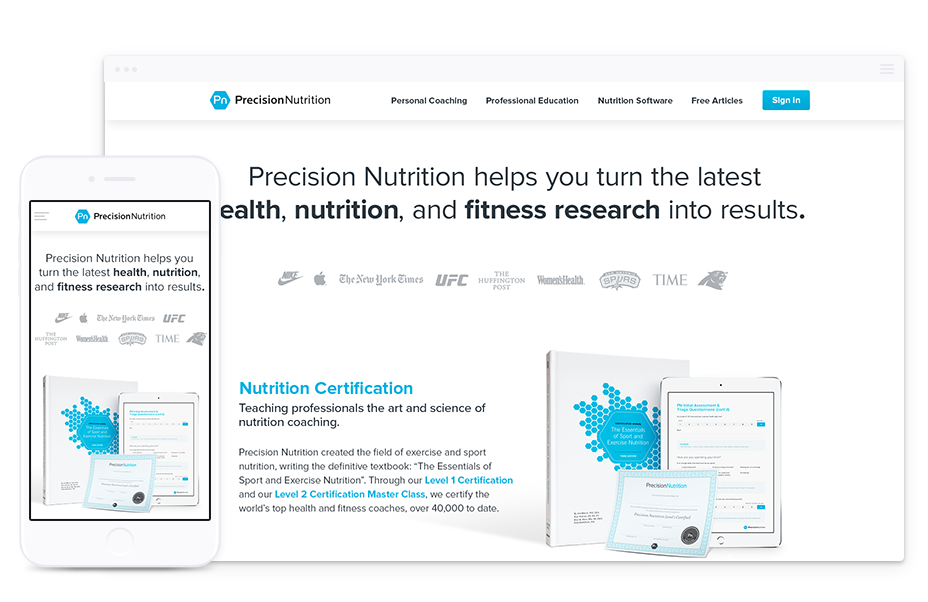 Web Design for Health & Fitness Organization