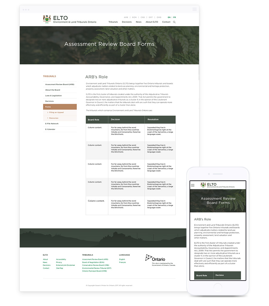 Website Design for Government Agencies by Parachute Design, Toronto Web Design Company