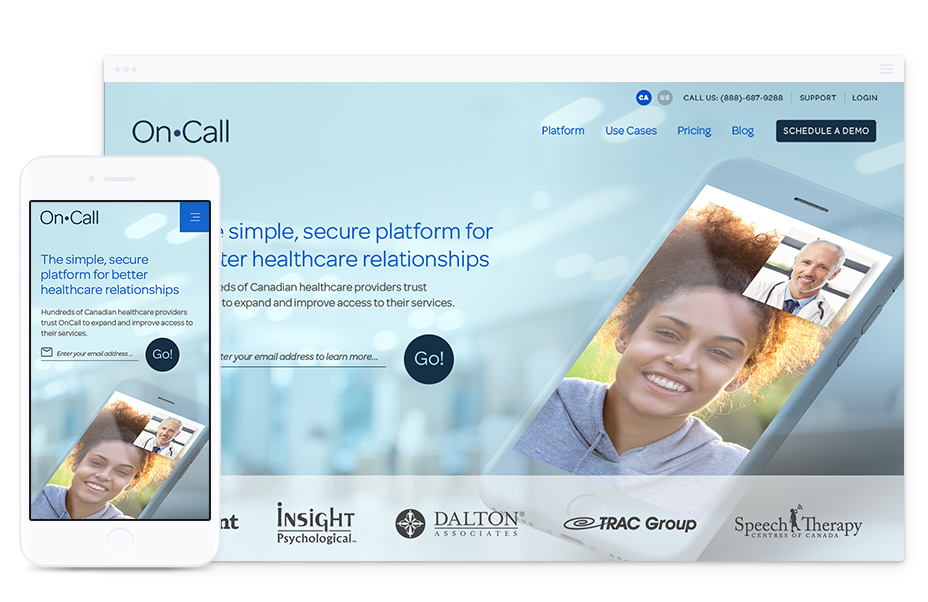 Website Design for Technology Company - OnCall Health