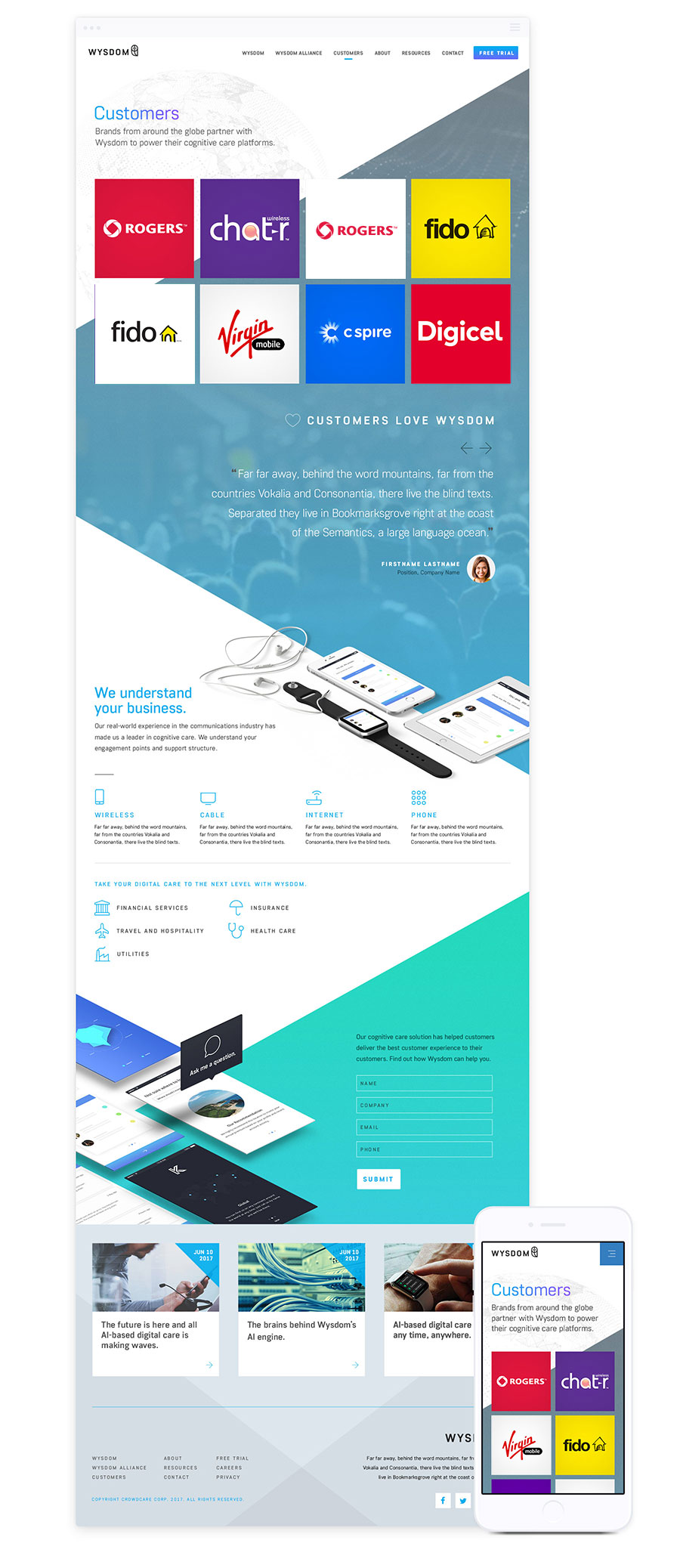 Web Design for B2B - Wysdom