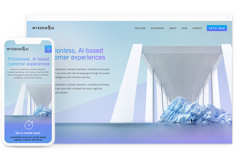 B2B Website Design for AI Technology Firm – Wysdom AI