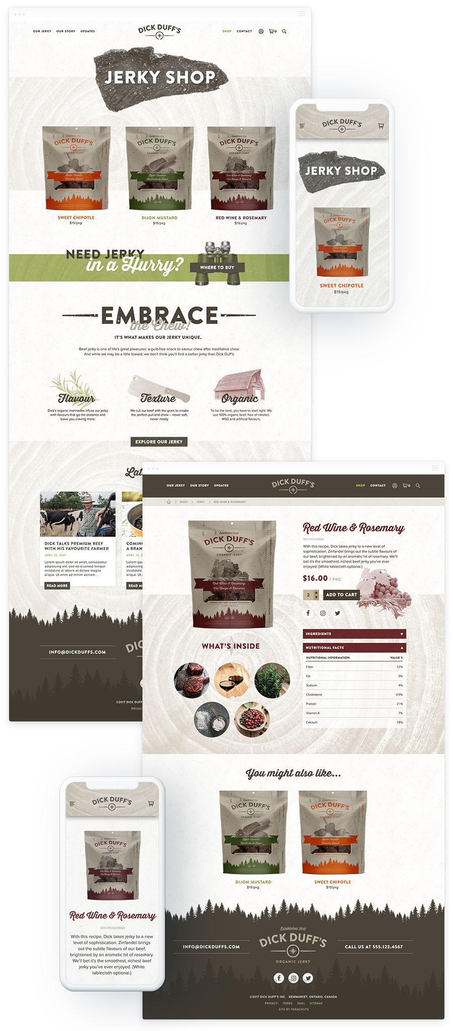 e-Commerce Web Design for Food & Beverage Company in Toronto – Dick Duff's