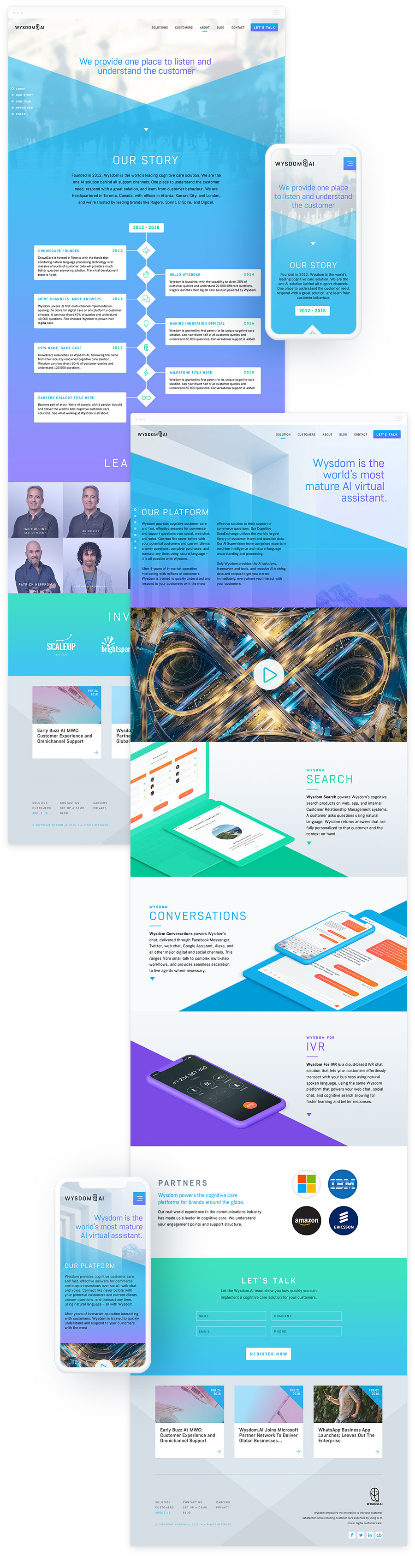 Web Design for AI Technology Firm – Wysdom AI