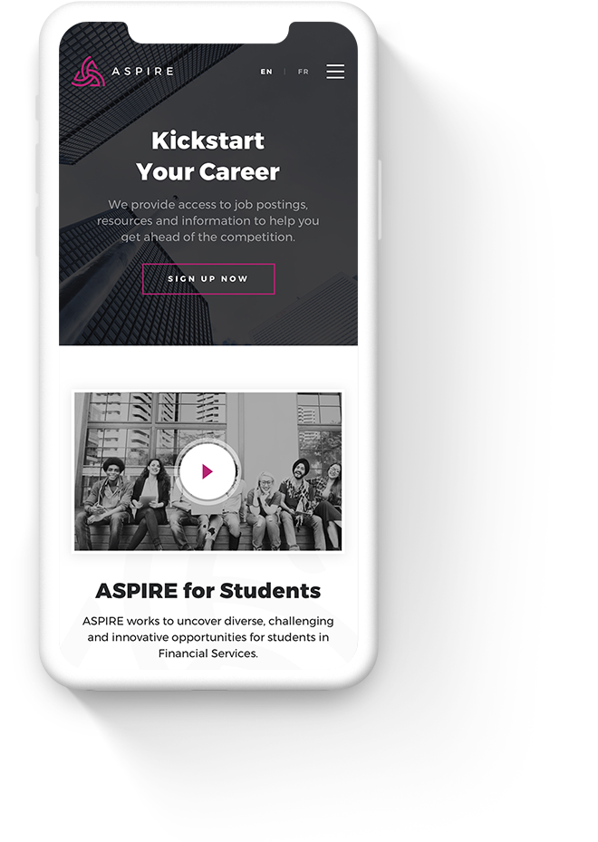 Mobile Web Design for ASPIRE