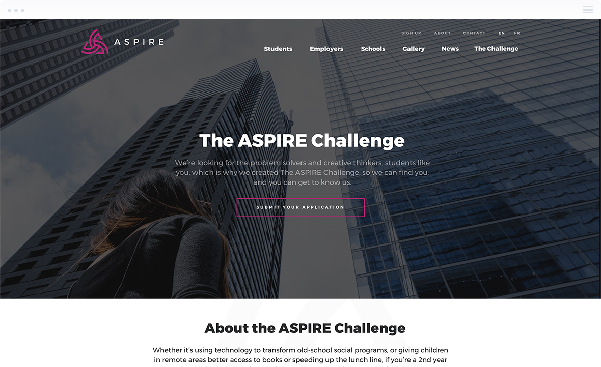 Online Contest Design for ASPIRE