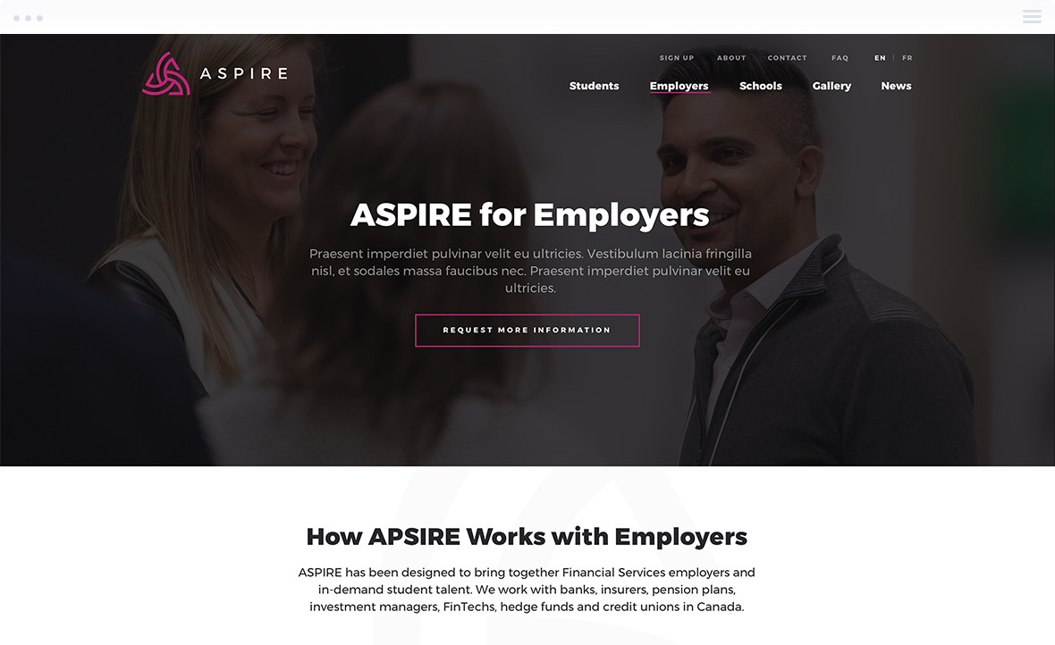 Website Design for ASPIRE