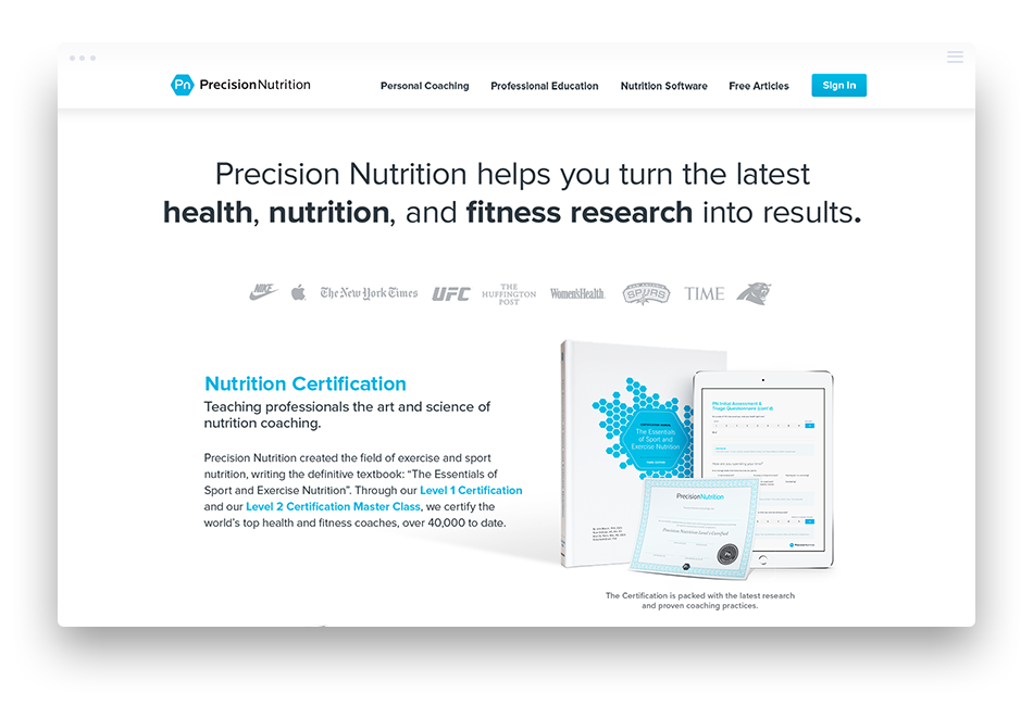 Web Design for Health & Fitness - Precision Nutrition