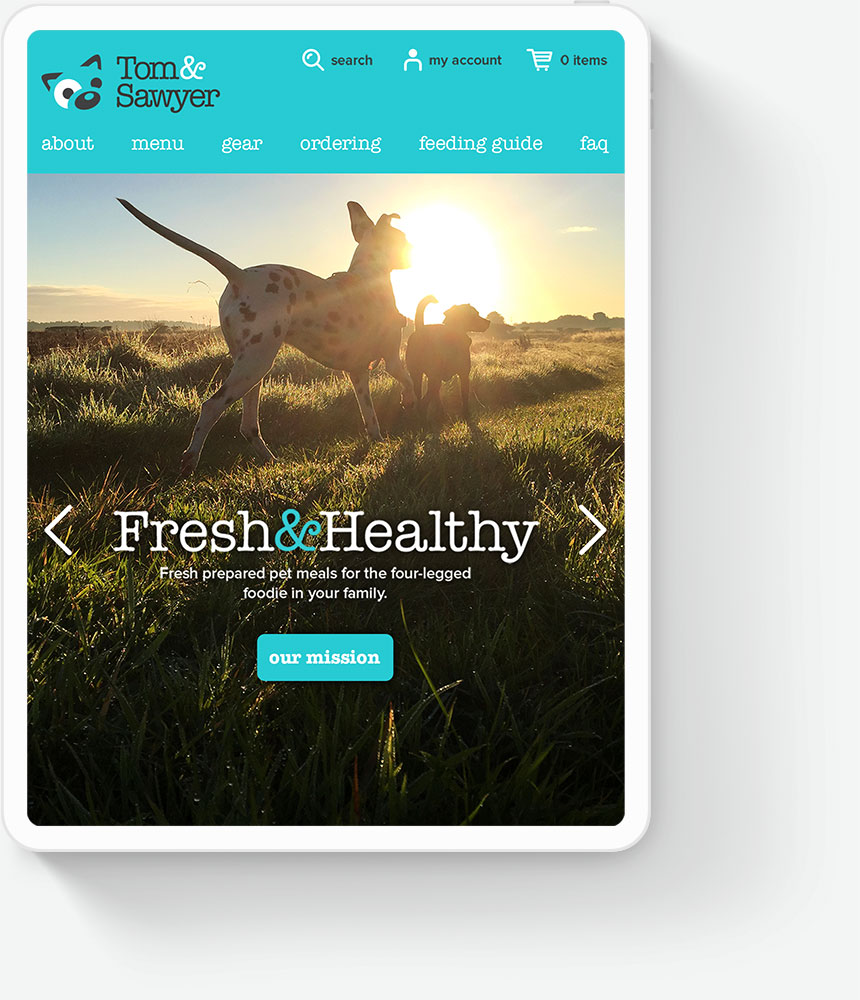 Responsive Web Design for Pet Food Company
