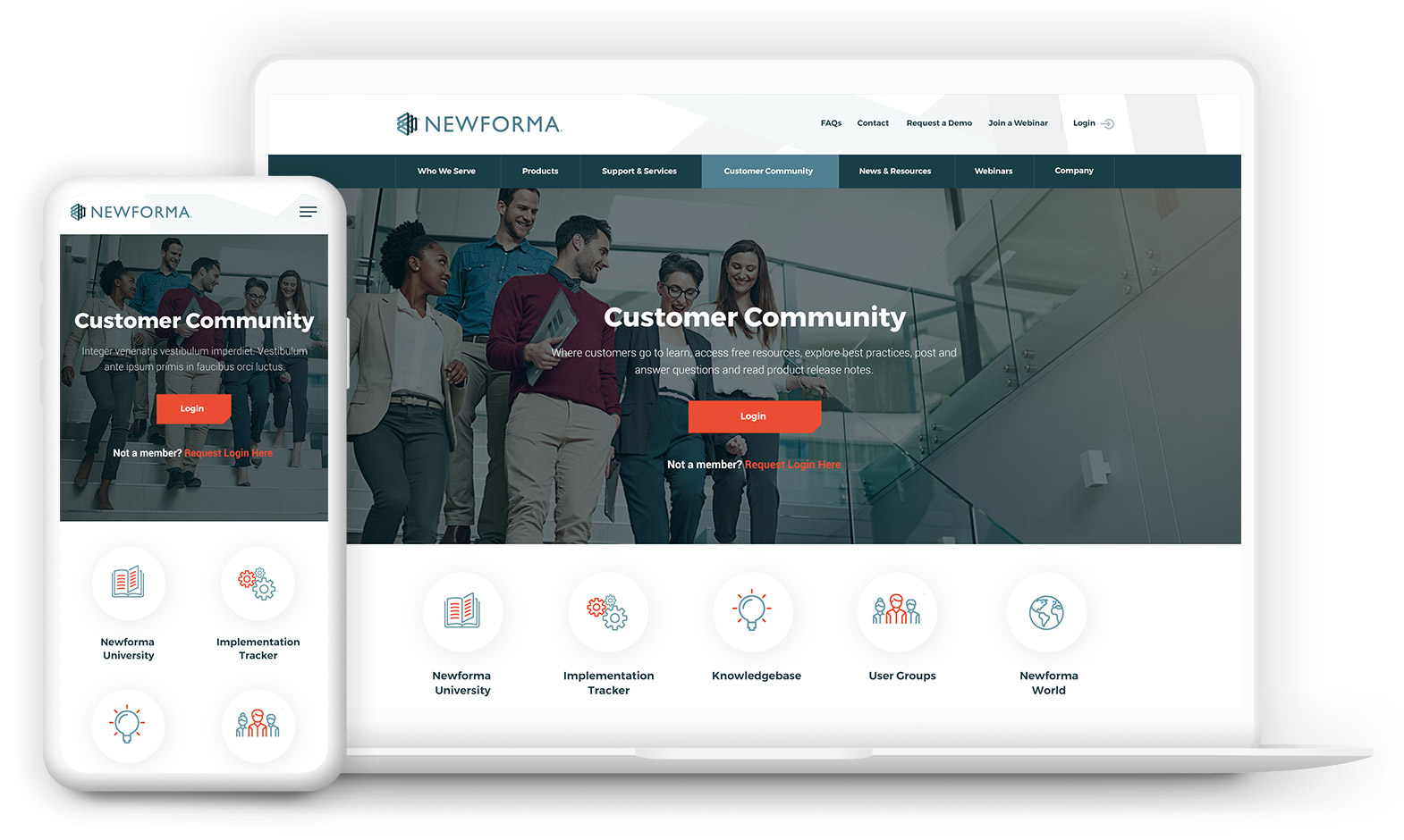 Software Company Website Design - Newforma
