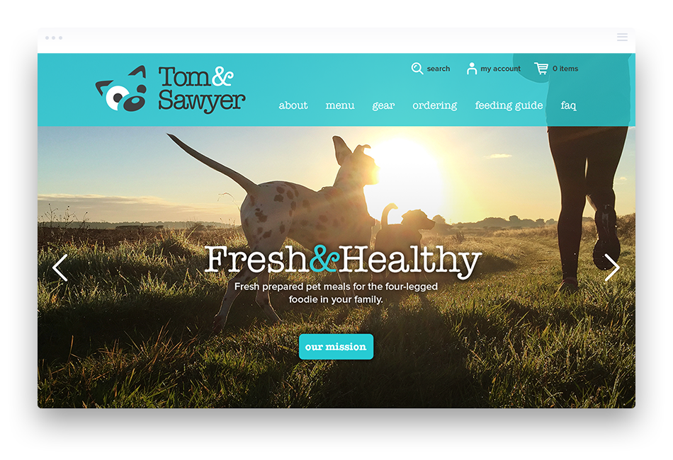 Web Design for Pet Food Company - Tom & Sawyer