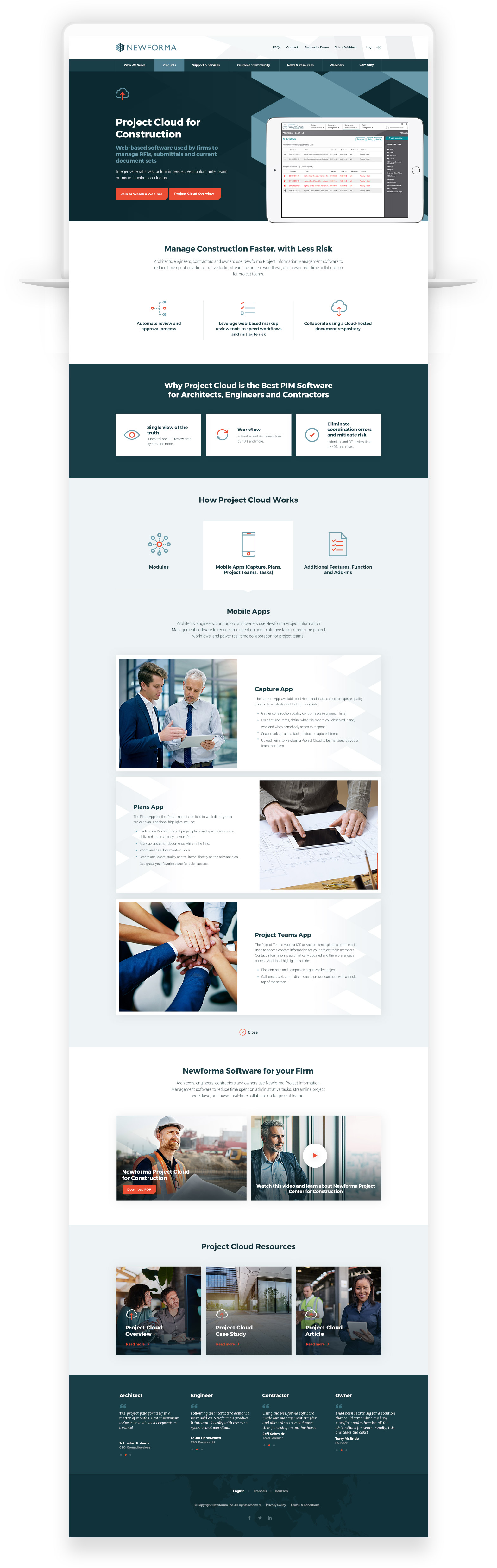 Web Design for Software Company - Newforma