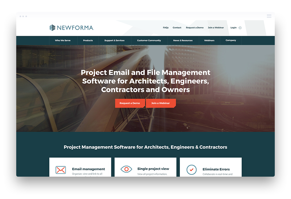 Website Design Software Companies - Newforma